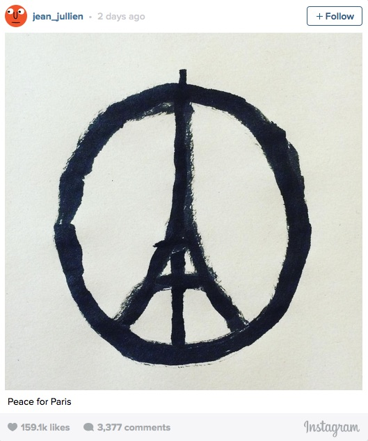 jean jullien-peace for paris-ig