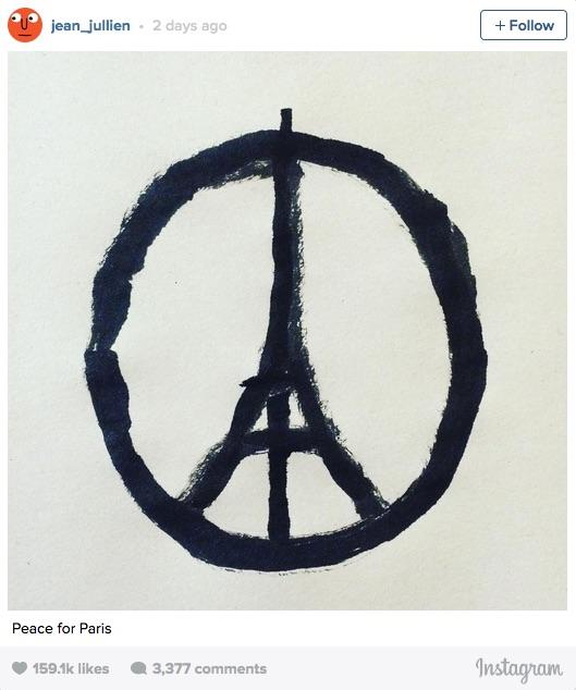 jean jullien-peace for paris-ig