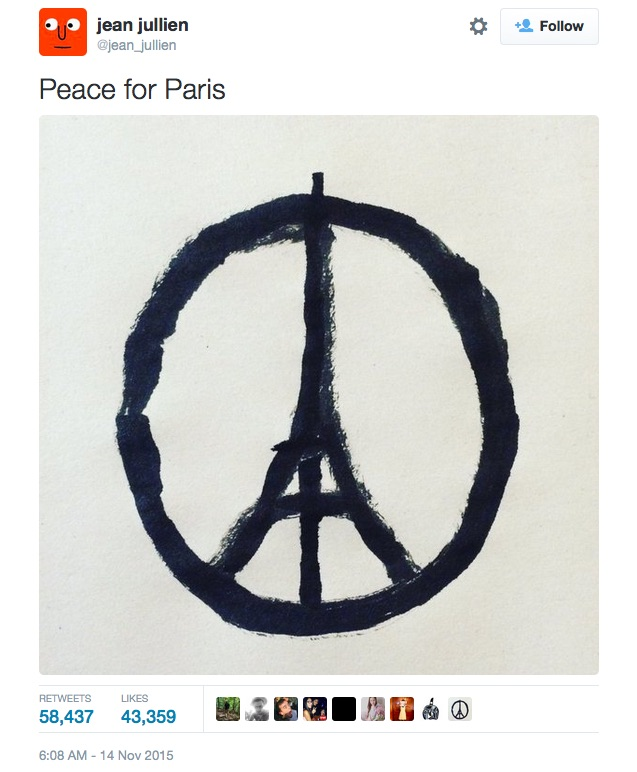 jean jullien-peace for paris-twitter